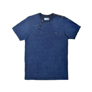oqLiq - Display in the lost - Blue Stained Stripe T