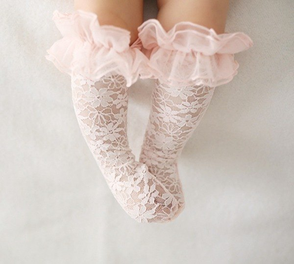 Good day blossoming / Happy Prince ERIN lace baby knee socks (pink) in Korea