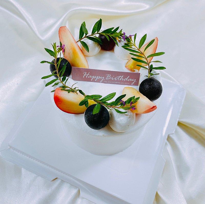 蜜桃成熟時 生日蛋糕 客製蛋糕 季節限定  4 6 8吋  限台南面交