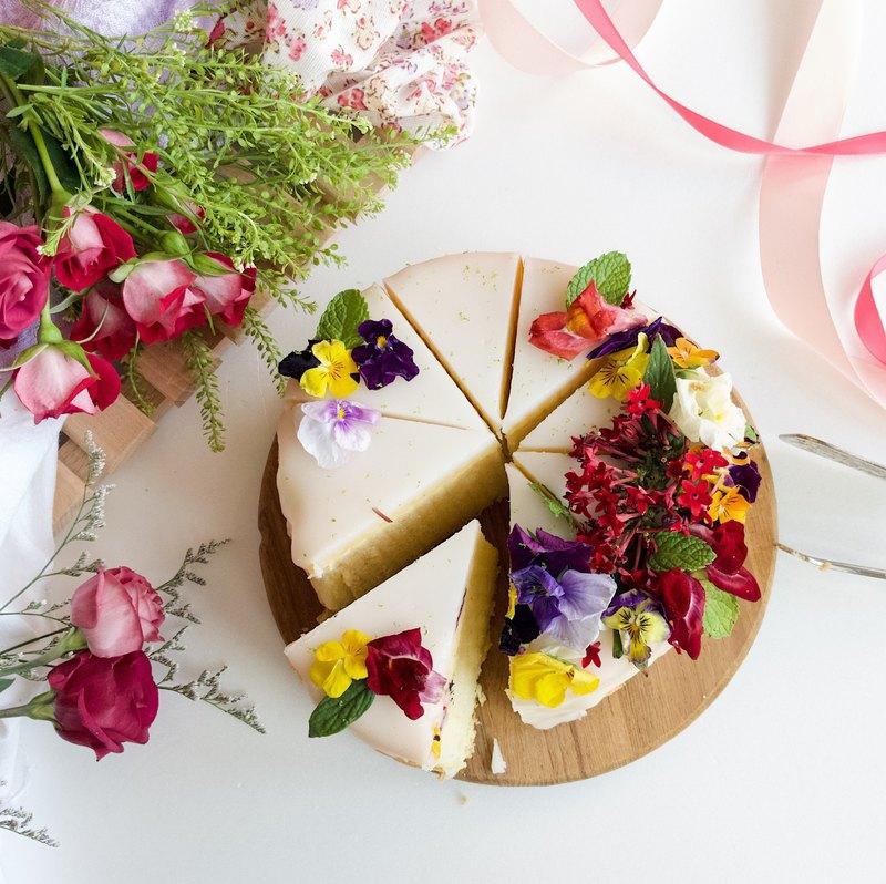 經典甜點系列 • 6吋有機食用鮮花.酸甜老奶奶柑橘蛋糕