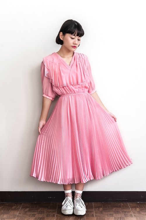 Vintage Pink Bubble Antique Dress