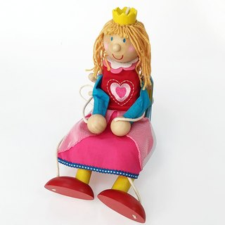Princess Wooden Marionette Puppet