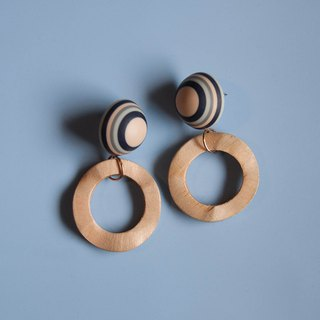 Space Age - Khaki Planetary System Earrings