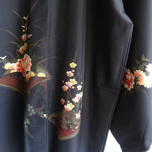 Japanese antique-light kimono long coat P17│ vintage.vintage.vintage.literary.