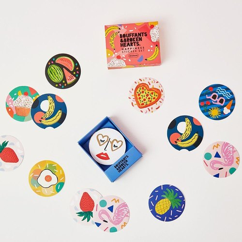 7321 Graffiti matchbox decorative round stickers group - BBH, 73D88872
