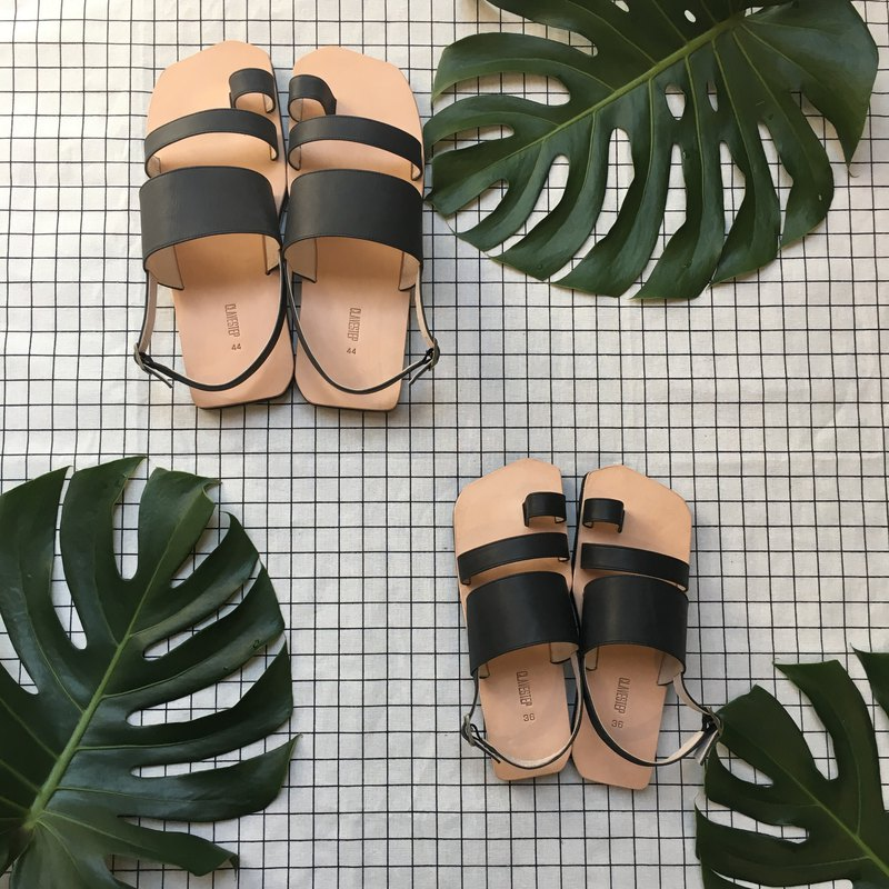 CLAVESTEP XIII Sandals - Leather Sandals - thirteen - Black  For Kids