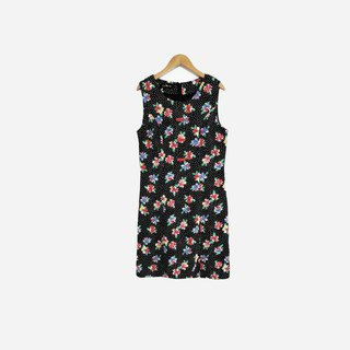 Dislocation vintage / little flower sleeveless dress no.707 vintage