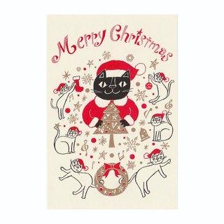 "Okabe Tetsuro Cat Christmas Card ""Full of Fun, Merry Christmas!"""
