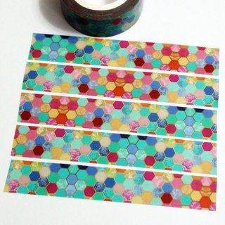 Masking Tape Glass Mosaic