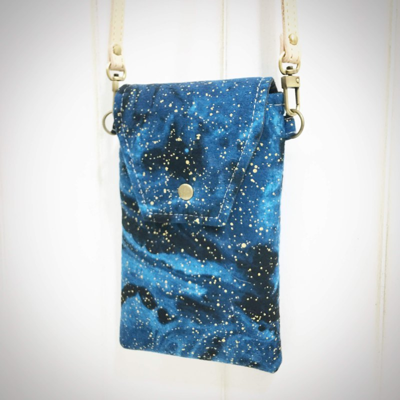 |R• | Starry | Pure Leather Slingback Flip Magnet Holder Mobile Phone Bag