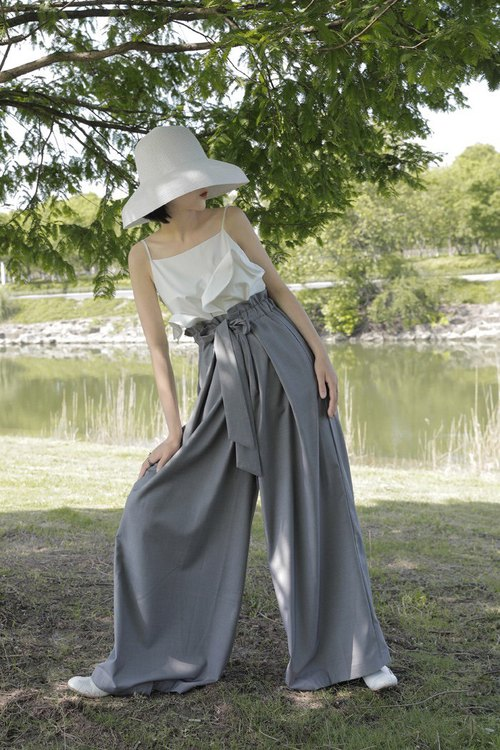 Casual Loose Fit Maxi Pants