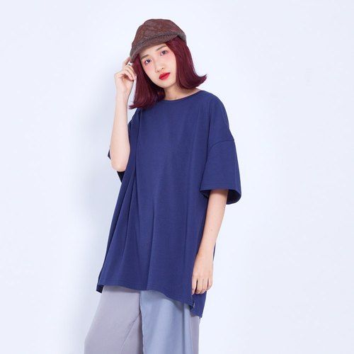 Corsage air-sensitive cotton big T blue Taiwandesign