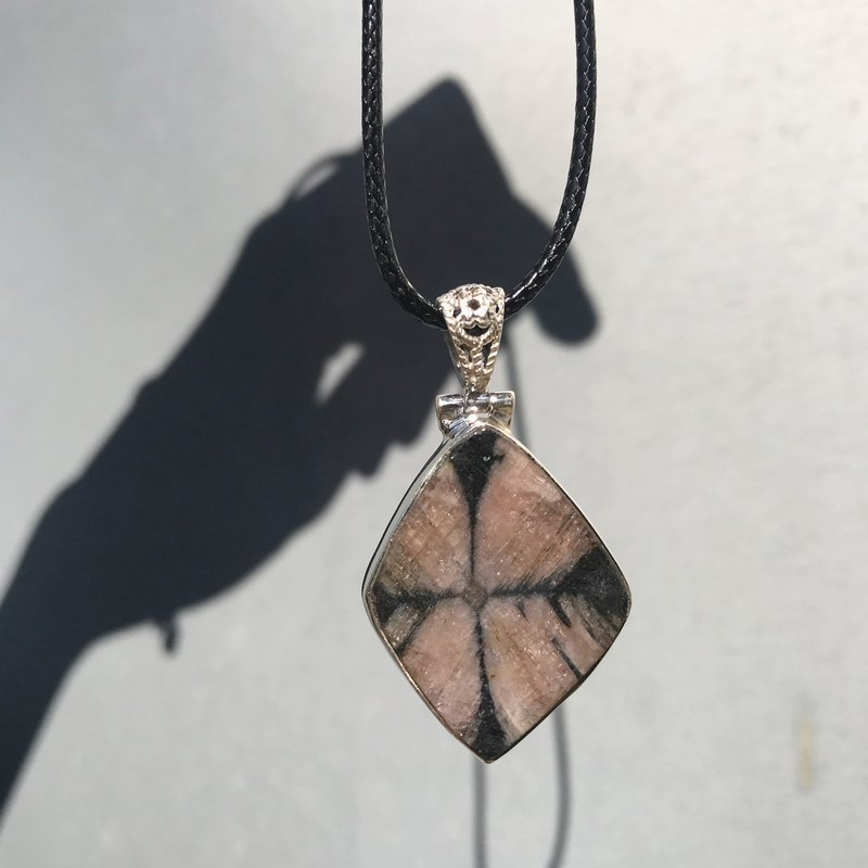 【Lost And Find】Natural chiastolite 925  necklace