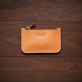 [NS handmade leather goods] zipper coin purse, gift (free printing)