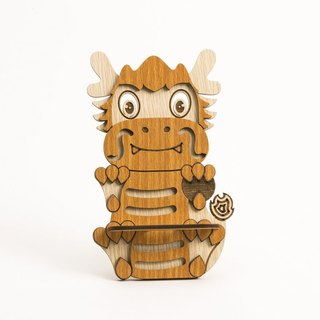 Wooden Formula (Customized - Color Patterns can be replaced) Wooden Phone Holder - 12 Zodiac (Dragons) Mobile Phone Holder / Ornament / Business Card Holder / Gift / Premium / Mobile Phone Accessories / Stationery