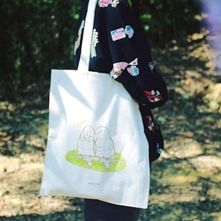 [Animal series # 4 cherry trees parrots canvas bag
