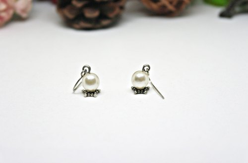 * _ * Alloy pearl planet hook earrings ➪ Limited X1