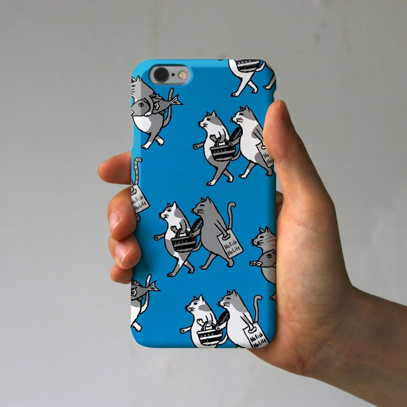 iPhone case cats blue blue