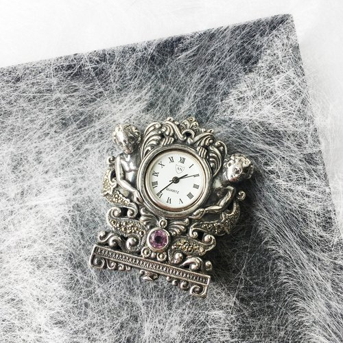  little angel table with the clock | 925 silver British Seiko hand