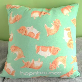Rabbit Cushion Cover/ Plush Pillow/ Bunny print double sided cushion/animal