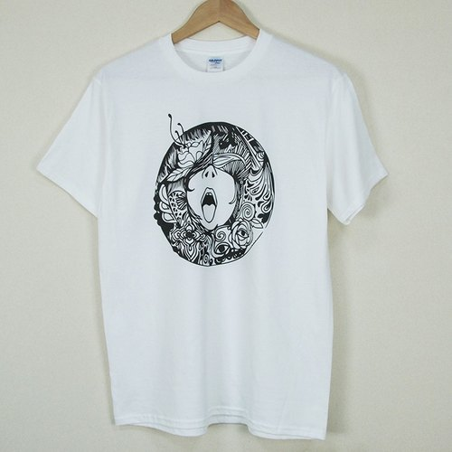 "New designer-T-shirt: [cry] short-sleeved T-shirt ""neutral / self-cultivation"" (white) - Yang Shu-ting"