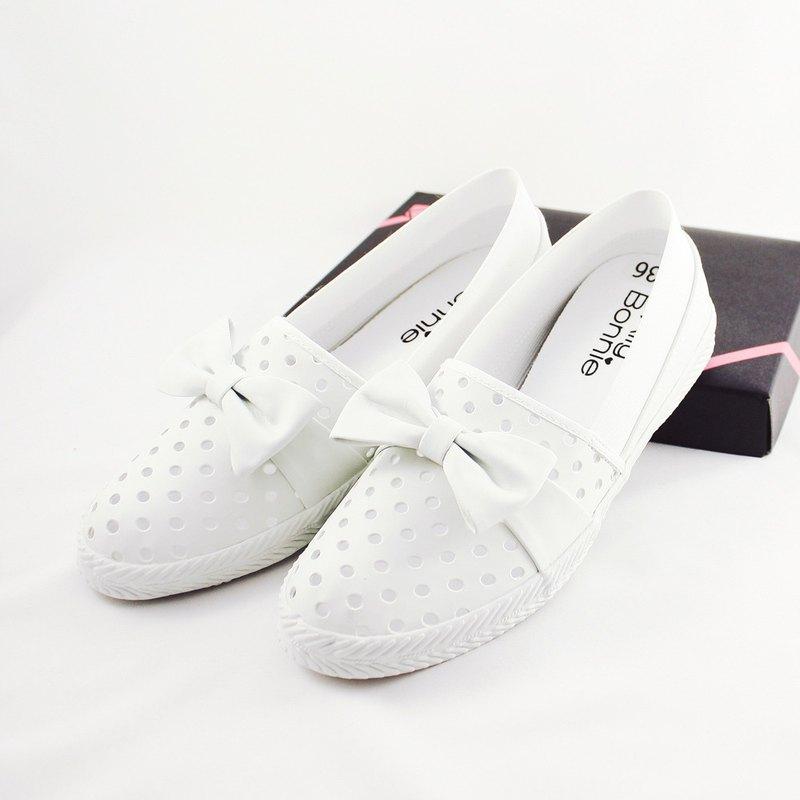 親子鞋 涼快洞洞休閒鞋-白色
