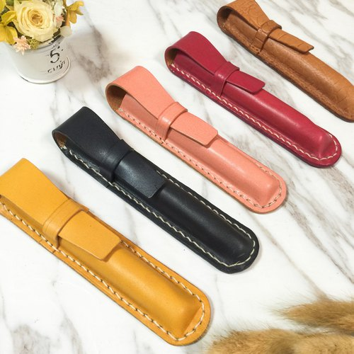 Pen leather case pen protective cover pen set vegetable tanned leather hand-sewn hand made leather