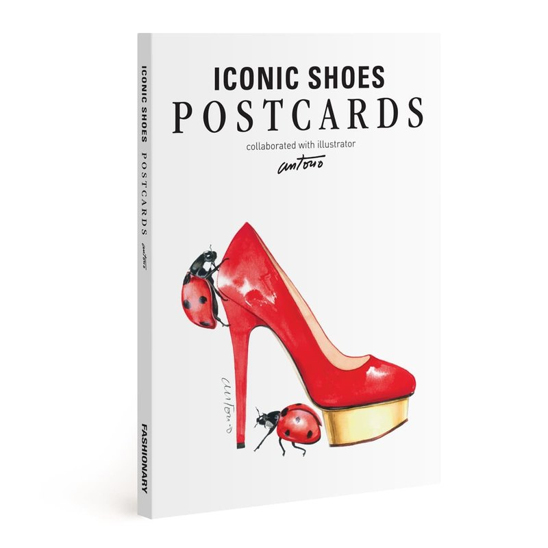 Fashionaary X Antonio Soares watercolor paper postcard set / shoe design (16)
