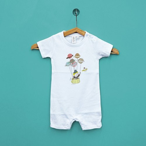 The more you want something Family fitted baby Japan United Athle cotton short-sleeved package fart clothes feeling soft