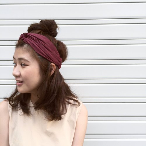 Mulberry dyed elastic Wide / handmade hair band