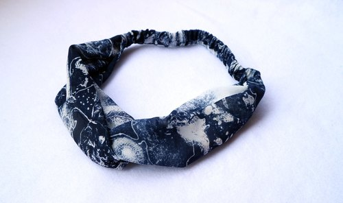 Blue Dye ~~ Cross Hairband*SK*