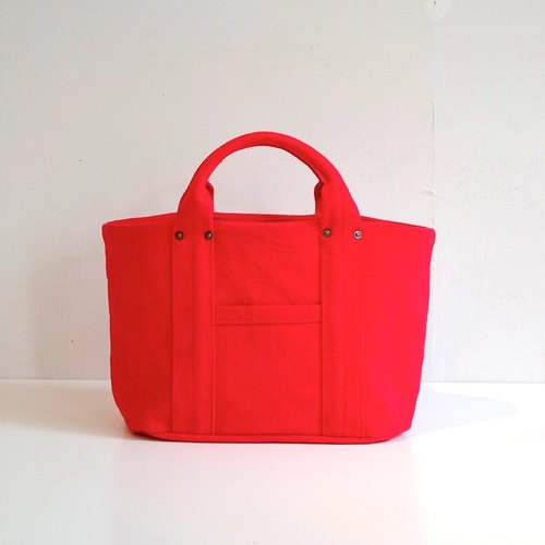 Kurashiki canvas mini tote - Phoenix red