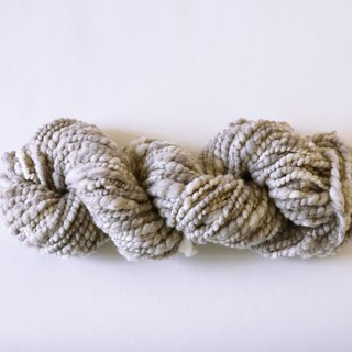 Grey and White Yak Wool Hand Spun Yarn
