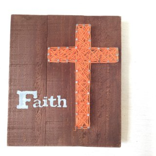 [6618 Yo-Yo Tail] Gospel Creation Series Creative Wood Wall Hangings Home Furnishing Cross The Faith
