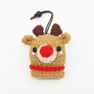 Red Nose Elk - Elk - Key Bag - Key Case - Christmas