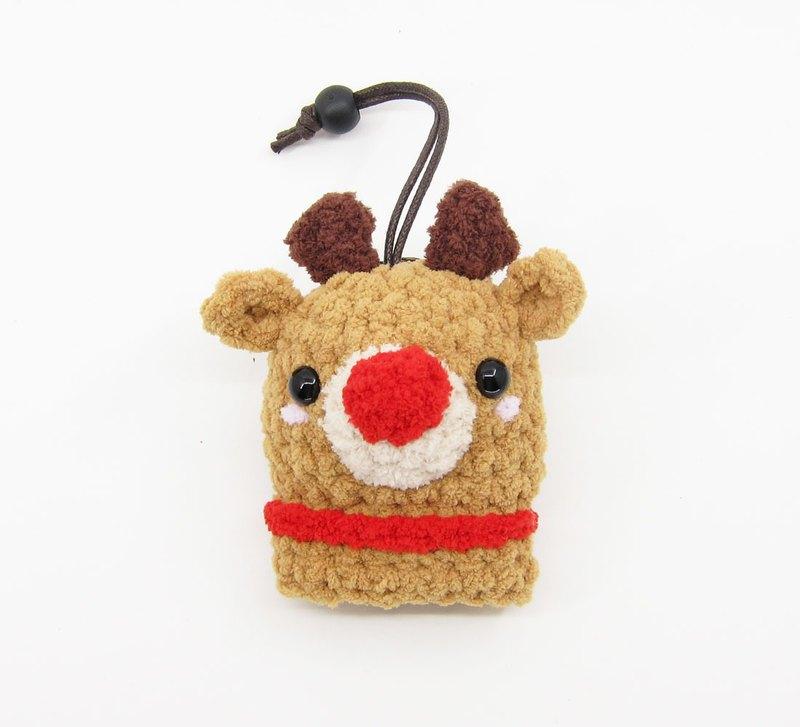 紅鼻子麋鹿(小)-麋鹿-鑰匙包-鑰匙套-聖誕節