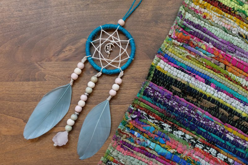 Handmade Dreamcatcher - Clear Quartz