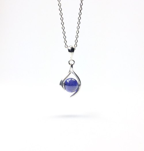 sapphire necklace,sterling silver pendant,gemstone,september birthstone,japan