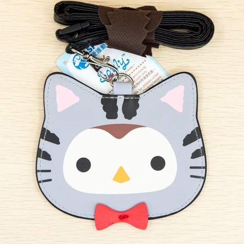SPCA x Squly and Friends Badge Holder with Lanyard (Cat) - G004SQB