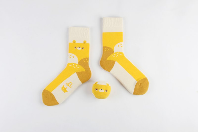 Lazy Wants to Eat Icecream - Ball Socks x little yellow studio