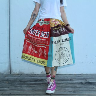 Color Patchwork Pattern Skirt