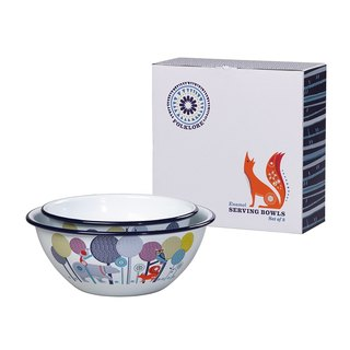 British import Wild & Wolf design 珐琅 big bowl small bowl gift box group (size bowl combination) spot