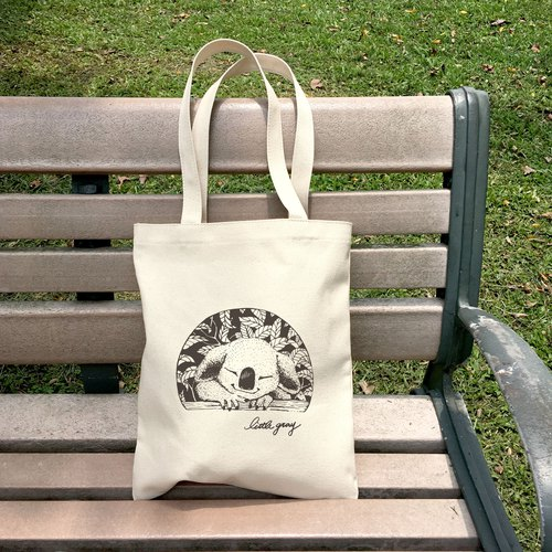 Koala Wood Straight Series canvas bag I
