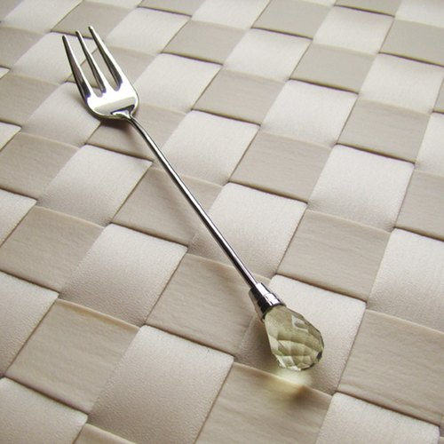 """Japan's Shinko"" Nippon - Tea Crystal Diamond Series - Emerald dessert fork"
