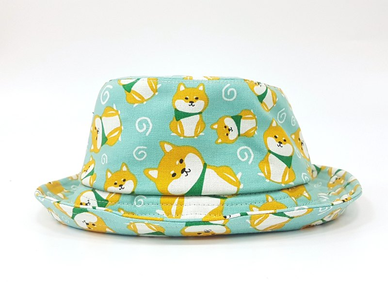 Classic fisherman hat - chubby dog ​​(powder green) #柴犬# Valentine's Day