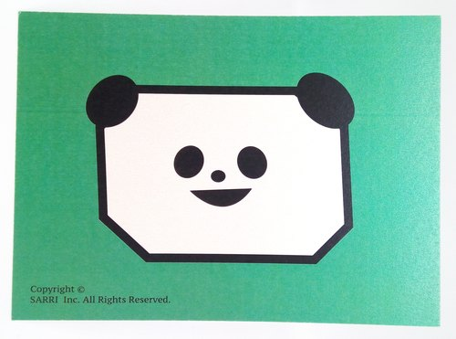 """Square face panda"" postcard birthday card design coloring illustration picture book card universal card art fine arts modern lover love special interesting weird special weird lovely taiwan yellow fun interesting eye-catching tide art sequins fl"