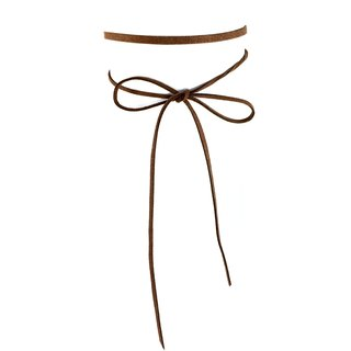Classic rope necklace - brown