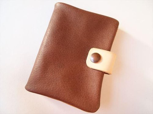 B7 [classic Brown] pig leather soft notebook cover [MTO] Leather 1615