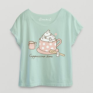 *Mori Shu*Mara Rabbit Cappuccino T-shirt (Light Green)
