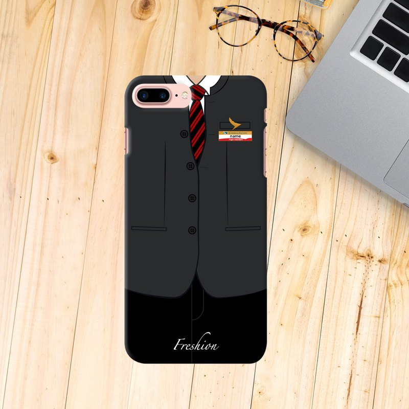 Custom Cathay Pacific Airlines Air Steward Fight Attendant iPhone Samsung Case
